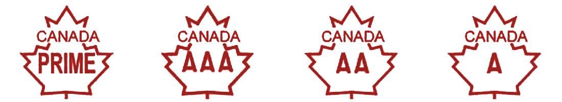 Canada Beef Grade Stamps